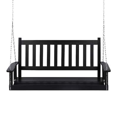 Daura Wood Porch Swing by Havenside Home