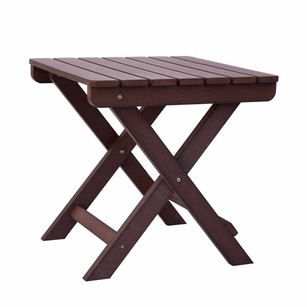 19.5 Inch Adirondack Square Folding Table, Recycled Plastic