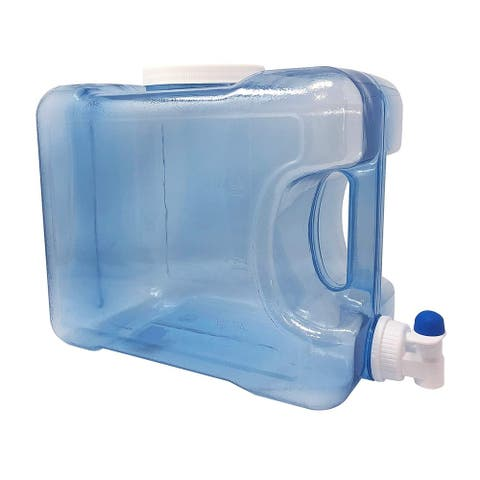 2 Gallon BPA Free Plastic Beverage / Water Container For The Fridge or Countertops. Built In Handle & Faucet Included