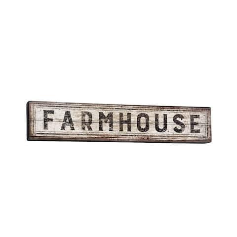 "Farmhouse Wood Box Sign 30"" x 6"""