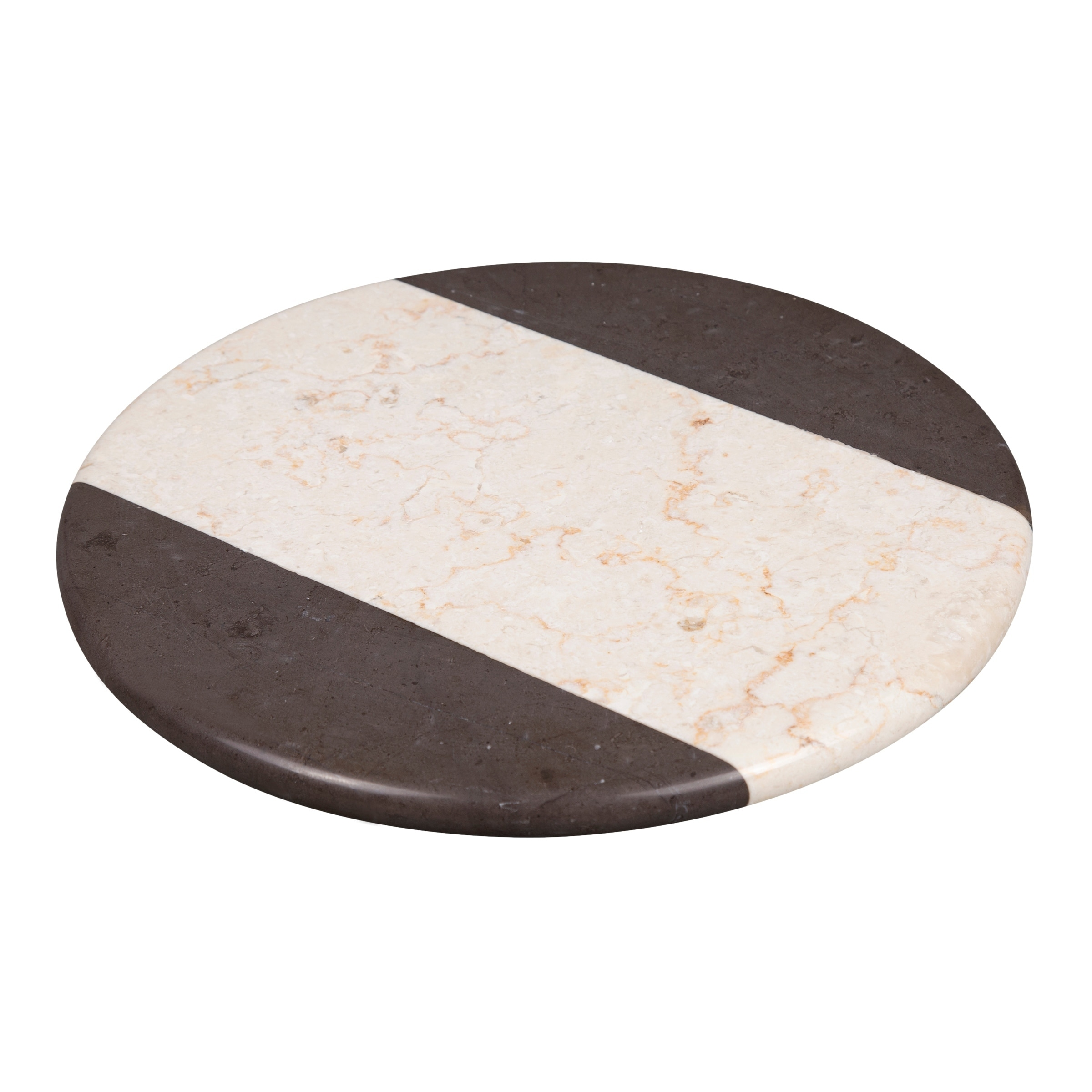 Creative Home 2 Tone Marble 12 Lazy Susan Rotating Serving Board Overstock 30355147