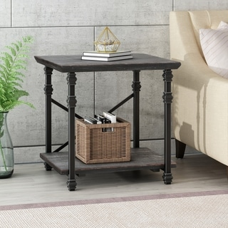 "Link to Morell Modern Industrial End Table by Christopher Knight Home - 23.60"" W x 22.00"" D x 23.00"" H Similar Items in Living Room Furniture"