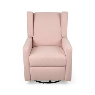 Hounker Contemporary Fabric Upholstered Swivel Recliner by Christopher Knight Home