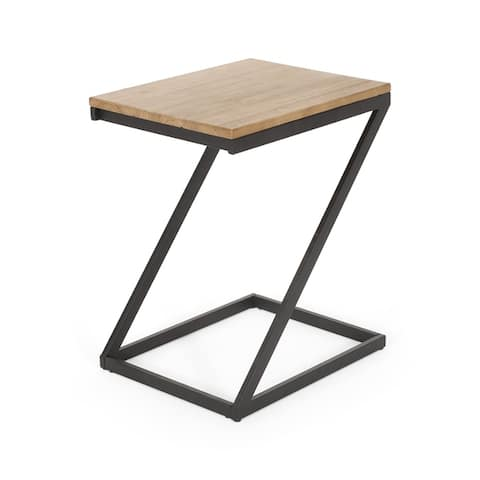 "Beaman Modern Industrial Side Table by Christopher Knight Home - 15.75"" W x 19.75"" D x 24.50"" H"