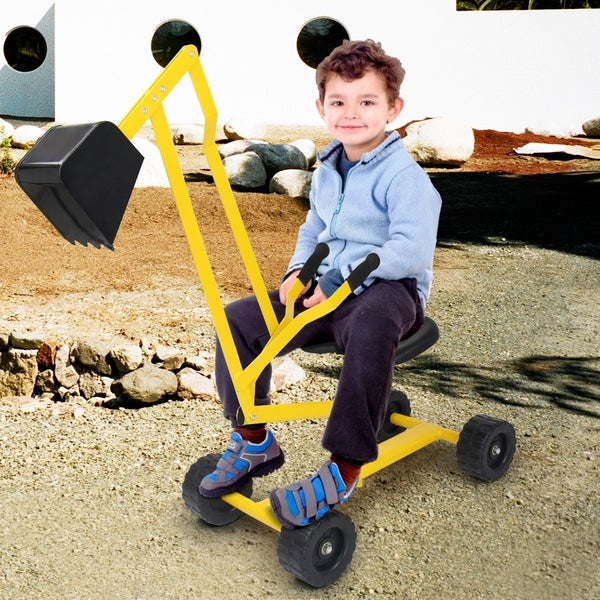 Sand Digger Toy Kids Heavy Duty Ride-on Digging Scooper Excavator. Opens flyout.