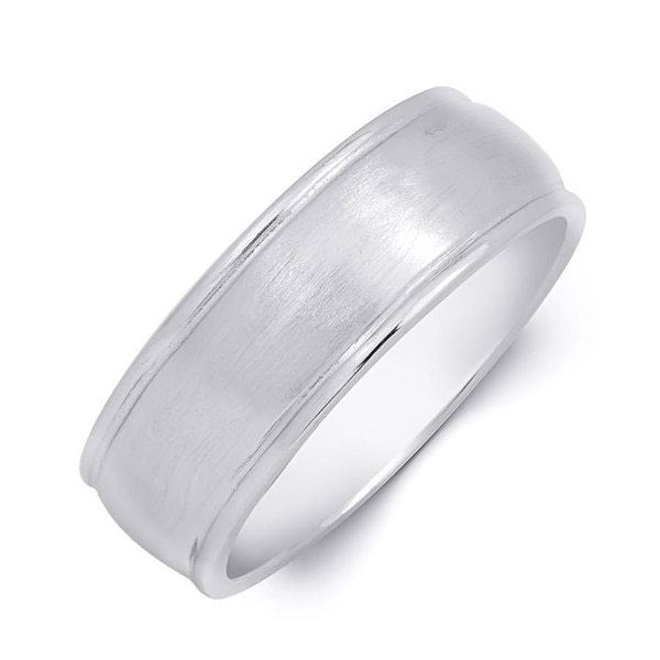 925 Stamped Sterling Silver 5mm Flat Wedding Ring Band