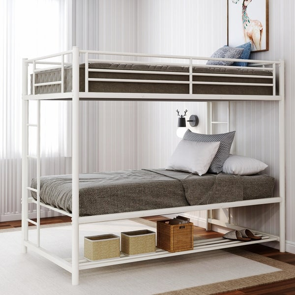 Harper & Bright Designs Twin over Twin Bunk Bed with Storage