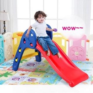 Children's Folding Up-down Slide Plastic Fun Toy For Kids