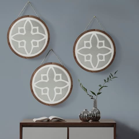 INK+IVY Oxford Natural Wall Decor Set of 3
