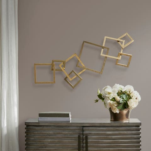 Madison Park Bristol Gold Wall Decor