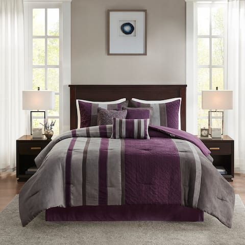 Madison Park Kinsley 7 Piece Faux Suede Comforter Set