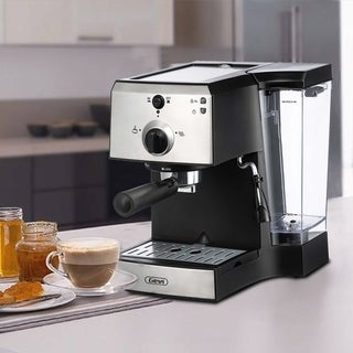 Black Espresso Maker and Cappuccino Machine