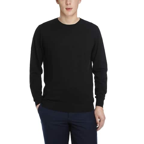Men's Cashmere Long Sleeve Pullover Crewneck Sweater