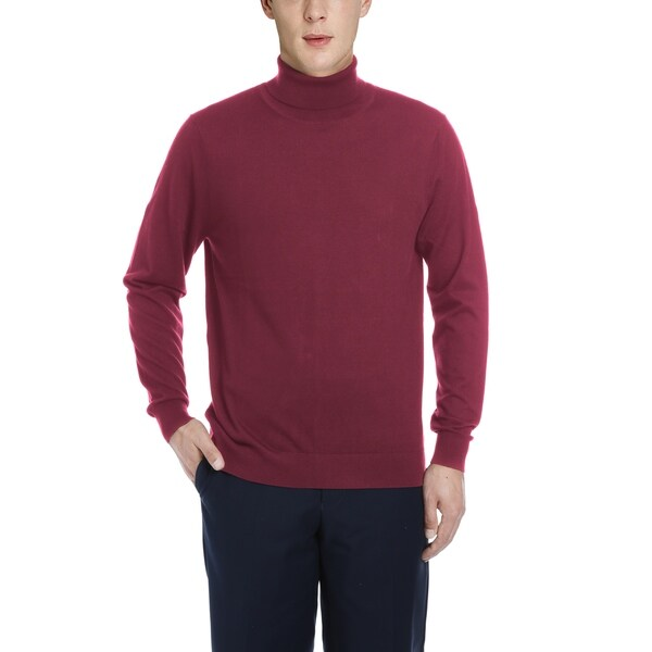 Mens Classic Cashmere Blend Turtleneck Pullover Sweater