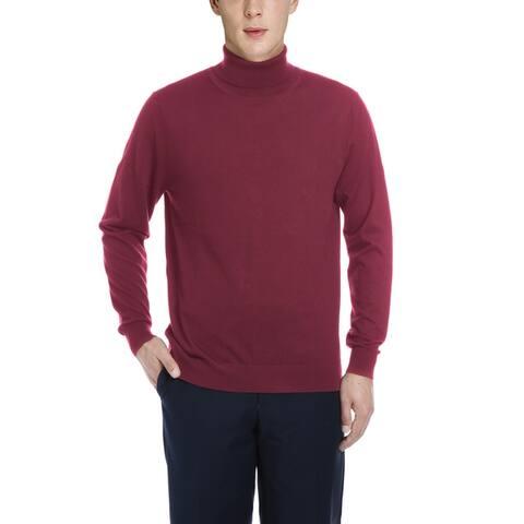 Men's Classic Cashmere Blend Turtleneck Pullover Sweater