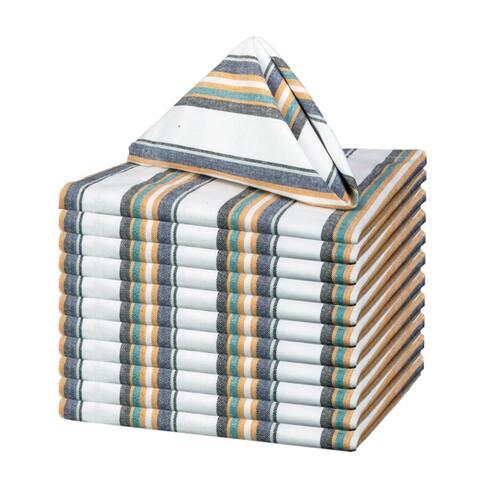 Glamburg 100% Pure Cotton Set of 12 Cloth Dinner Napkins 18x18 Soft Durable Absorbent