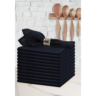 Glamburg 12 Pack 100% Cotton Cloth Dinner Napkins 18x18 Soft Comfortable Machine Washable Wedding Dinner Napkins