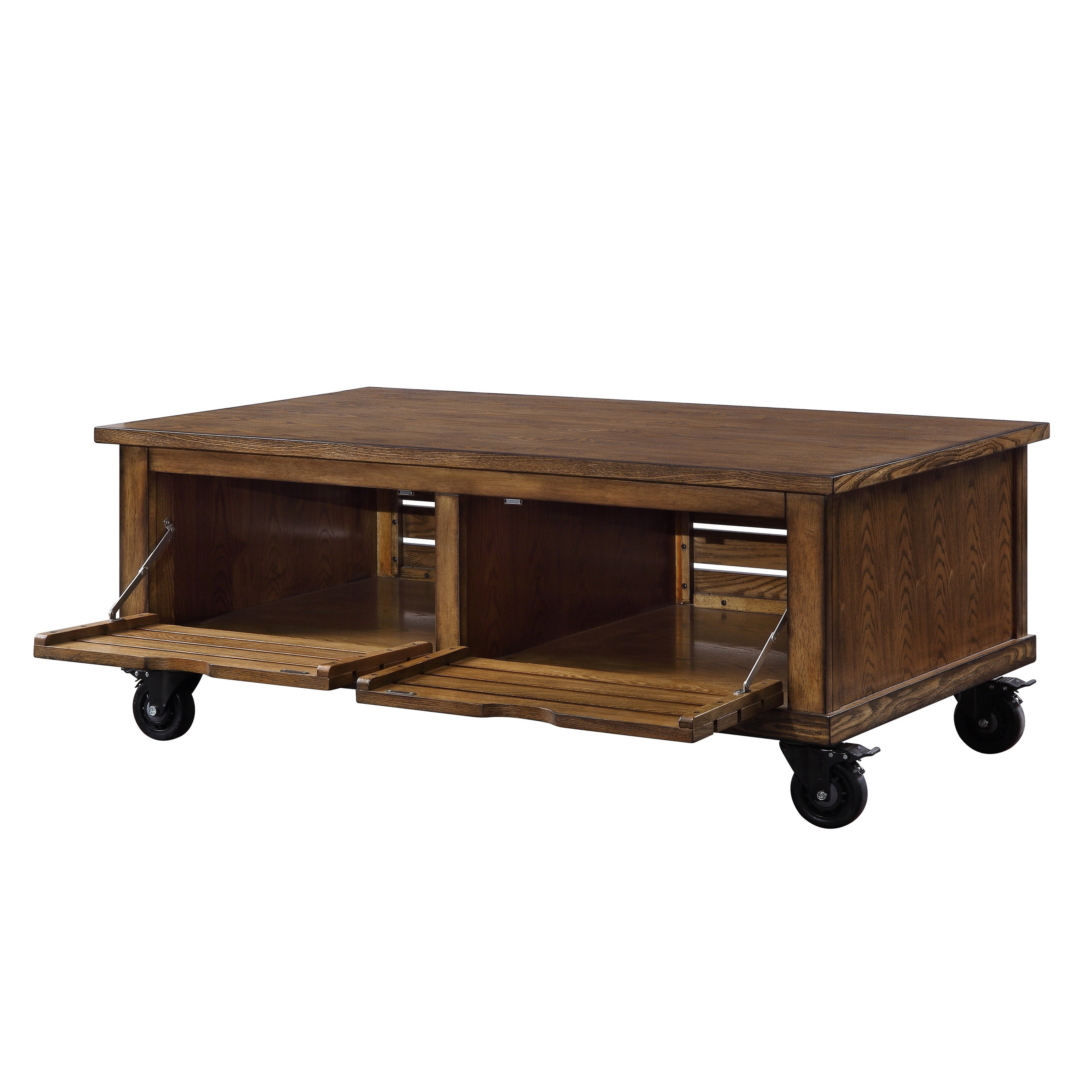 - Shop Wooden Coffee Table With Drop Down Storage And Caster Wheels