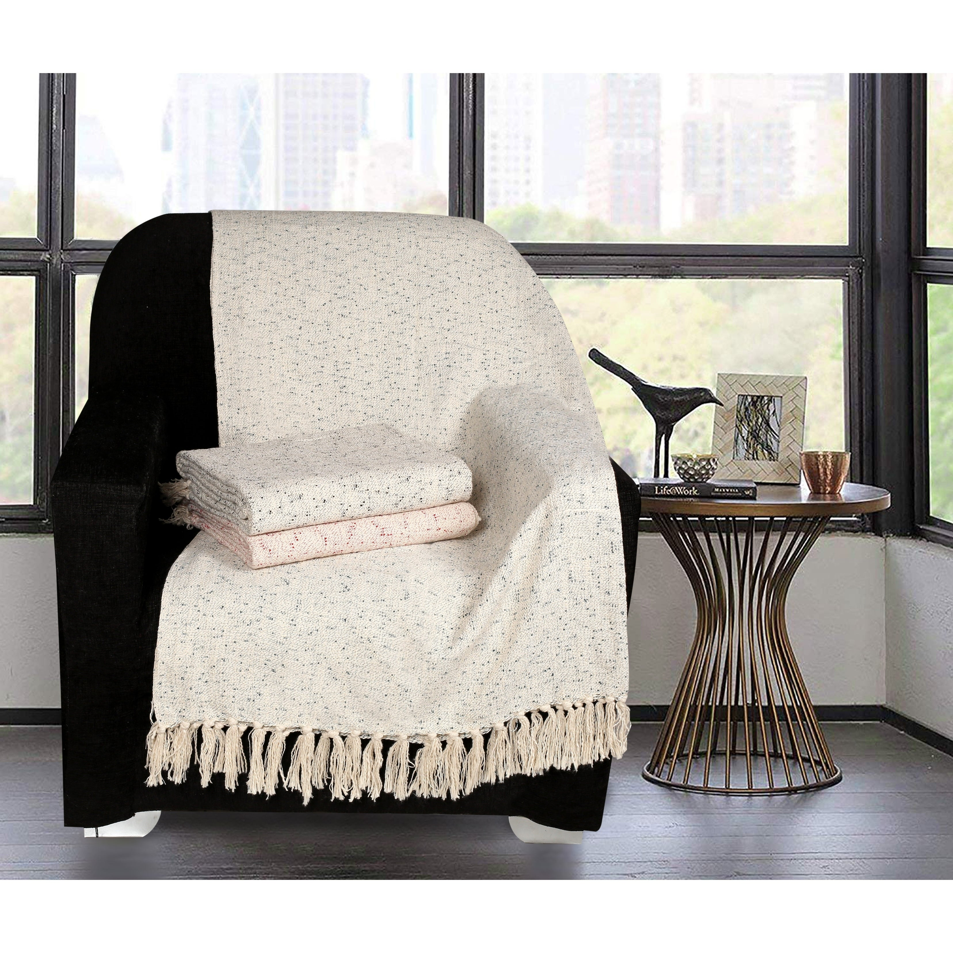 Picture of: Glamburg 100 Cotton Chunky Slub Throw Blanket For Couch Sofa Bed 50×60 All Season Cotton Throw Blanket Overstock 30359151