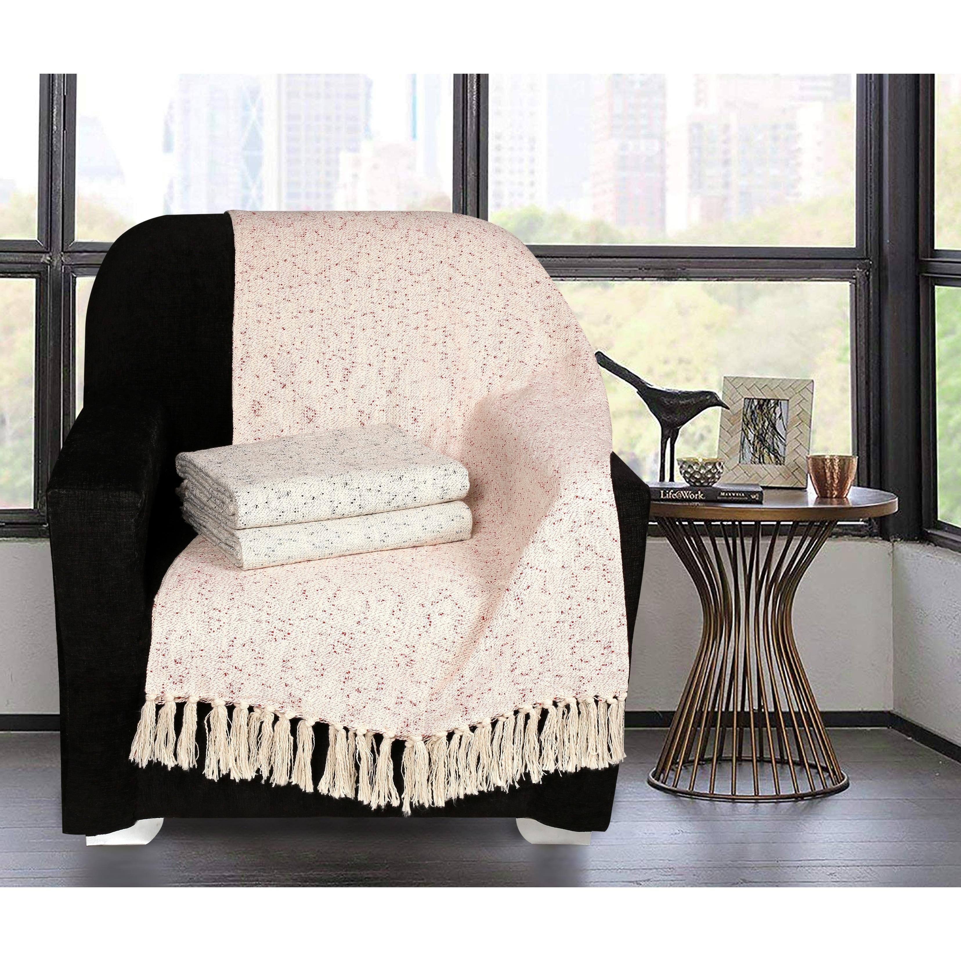 Glamburg Premium Quality /& Trendy- Slub Throw Blanket Beach /& Everyday Use Soft /& Cozy All Season Throw Blanket for Sofa Picnic Camping 50x60 Inches Couch Pure Cotton Chair Warm Teal
