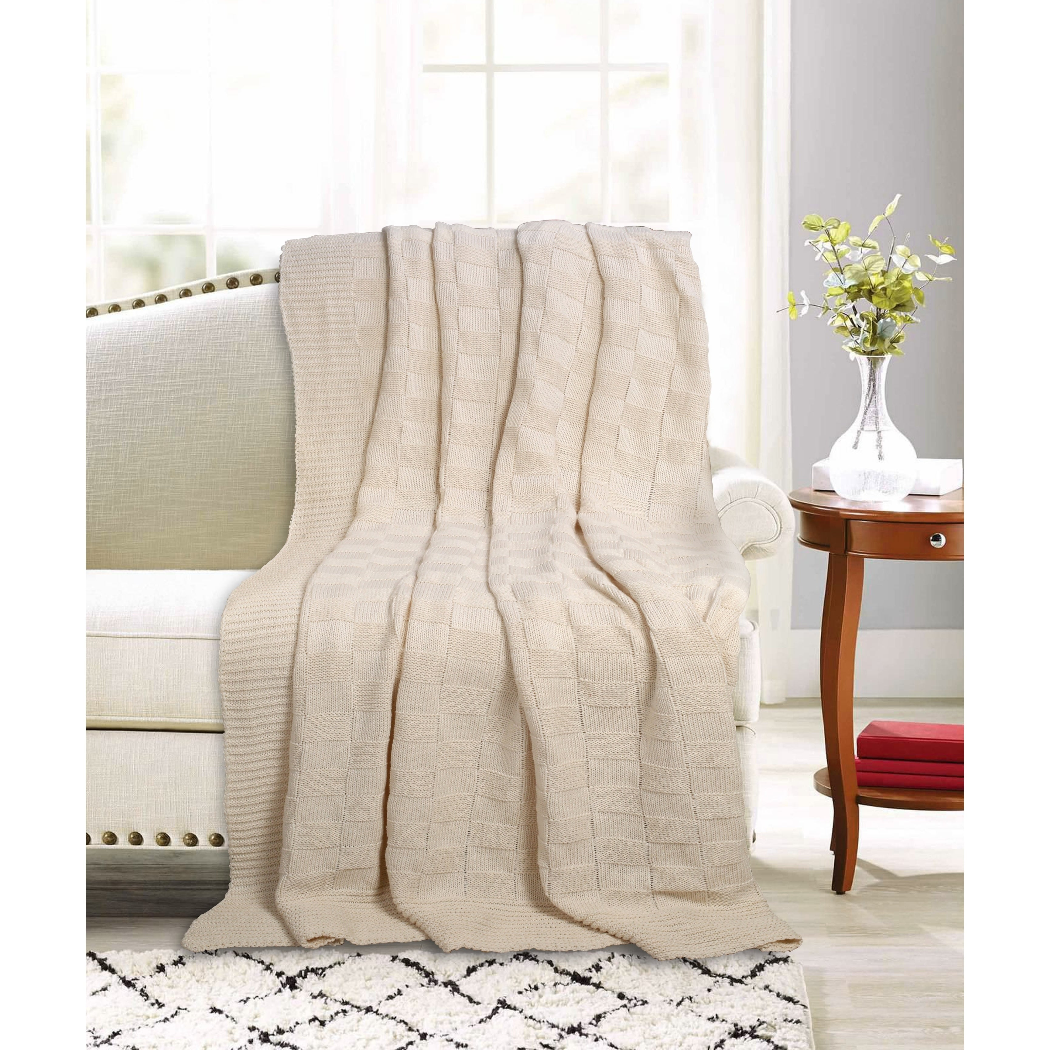 Shop Glamburg Knitted Throw Blanket 50x60 For Couch Sofa Bed
