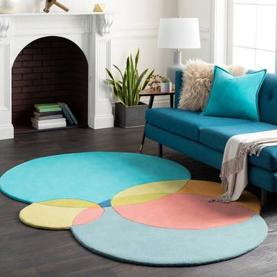 Teal Color Block Rugs Find Great Home Decor Deals Shopping At
