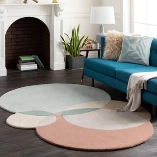 Martela Handmade Mod Geometric Wool Area Rug