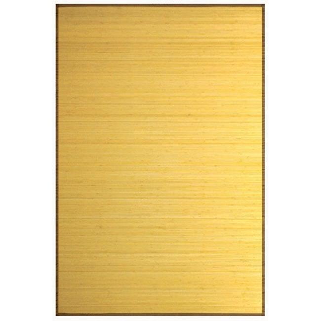 Natural Rayon from Bamboo Rug (5' x 7')