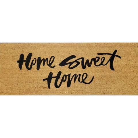 """""""Home Sweet Home"""" Large Coir Double Door Mat"""