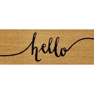 """""""Hello"""" Large Coir Double Door Mat"""