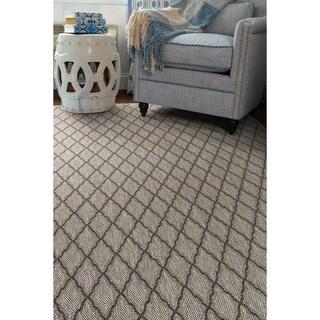 Somerset Falls Heather Grey Indoor/Outdoor Flat-Weave Rug