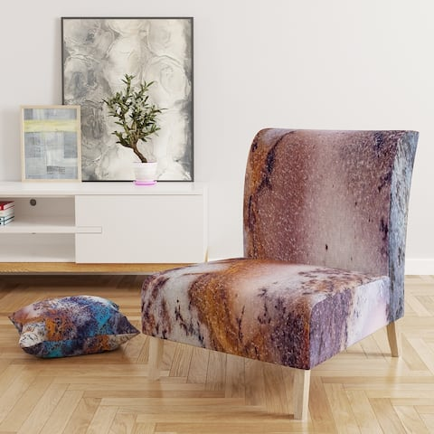 Designart 'Decorative Stone Moss Agate Close Up' Upholstered Tranditional Accent Chair