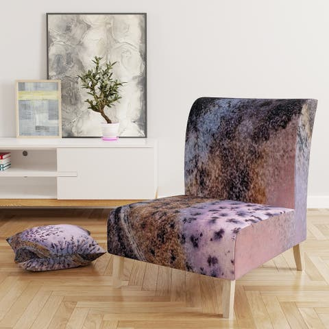 Designart 'Crystal Dendrite Macro' Upholstered Tranditional Accent Chair