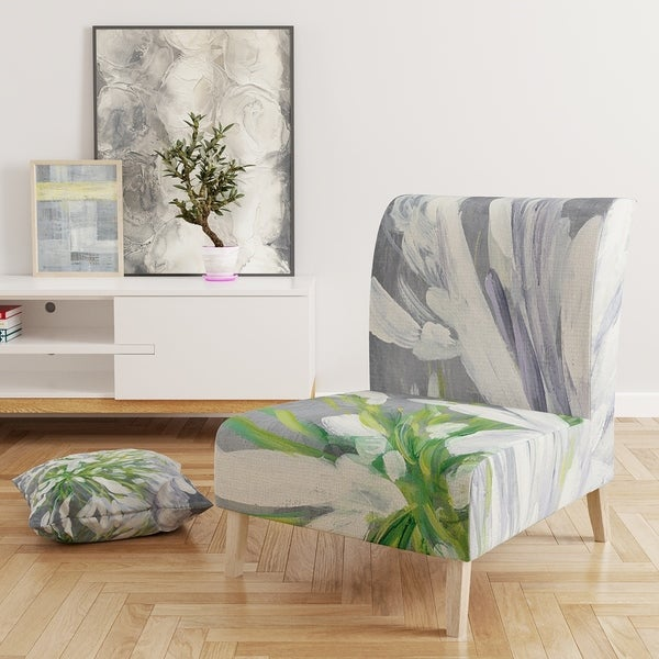 Designart 'Flower Cleome Splash II' Upholstered Tranditional Accent Chair. Opens flyout.