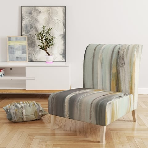 Designart 'Silver and Yellow Birch Forest' Upholstered Cottage Accent Chair
