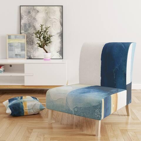 Designart 'Indigo Panel IV' Upholstered Glam Modern Accent Chair