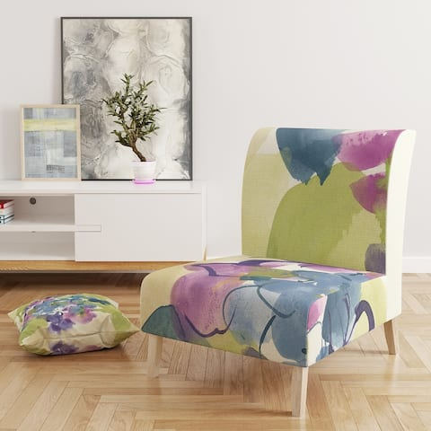 Designart 'Spring Bouquet II' Upholstered Traditional Accent Chair