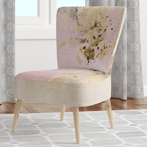 Designart 'Elegance II Pink' Upholstered Shabby Chic Accent Chair