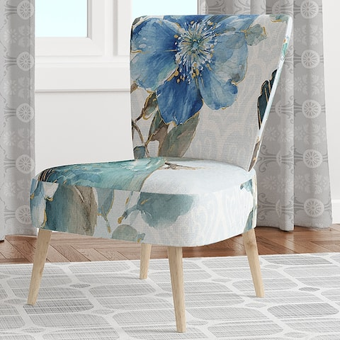 Designart 'Indigold Bird Cottage Family V' Upholstered Farmhouse Accent Chair