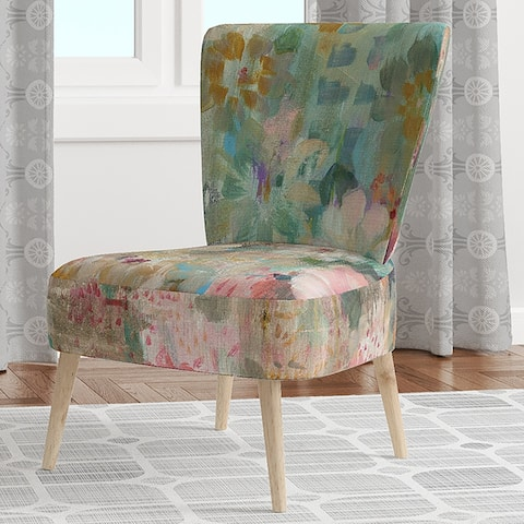Designart 'Flower Shower III' Upholstered Farmhouse Accent Chair