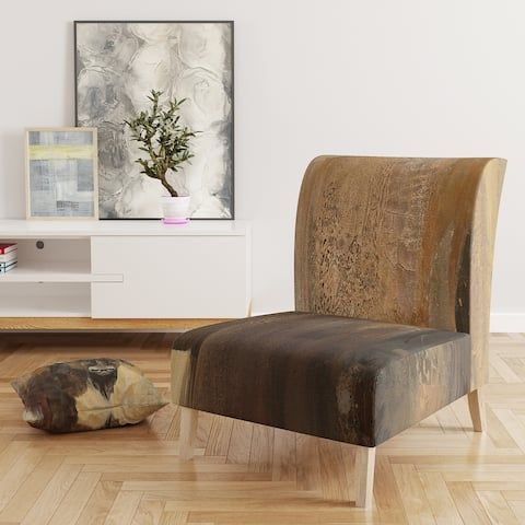 Designart 'Into The Wild Gold Buffalo' Upholstered Modern Farmhouse Accent Chair
