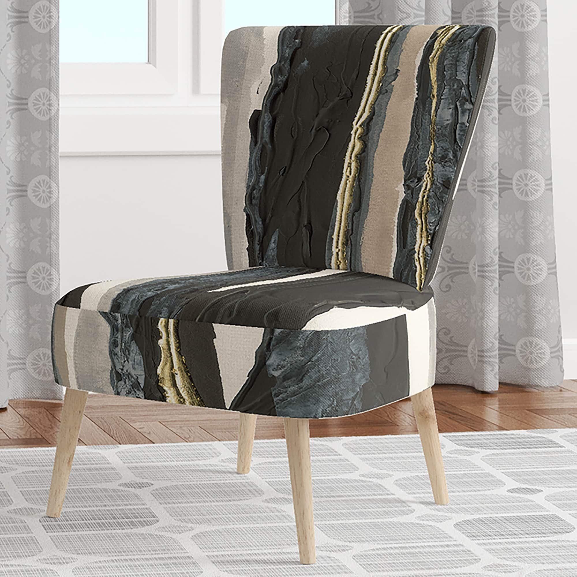 Designart Forest Silhouette Ii Upholstered Modern Farmhouse Accent Chair