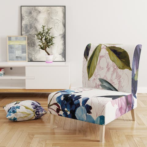 Designart 'Spring Nectar Square II' Upholstered Traditional Accent Chair