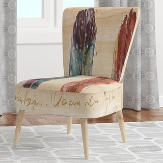 Designart 'Feathers Cottage Family' Upholstered Lake House Accent Chair