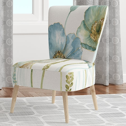 Designart 'My Greenhouse Cottage Flowers IV' Upholstered Traditional Accent Chair