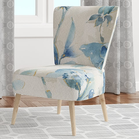 Designart 'Indigold Bird Cottage Family II' Upholstered Farmhouse Accent Chair