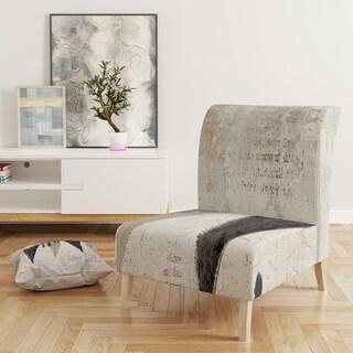 Designart 'French Bird Flea Market' Upholstered Farmhouse Accent Chair