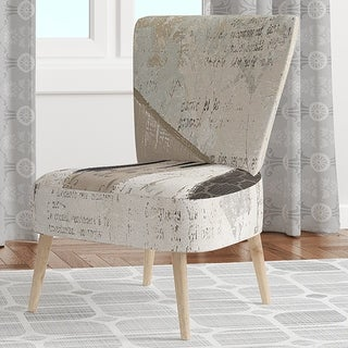 Designart 'French Bird Flea Market III' Upholstered Farmhouse Accent Chair