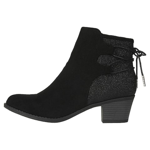 Via Rosa Womens Microsuede Ankle Boots with Straps Slip-On Shoes