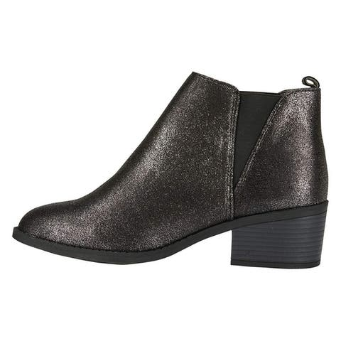 Via Rosa Womens PU Chelsea Ankle Boots Slip-On Fashion Shoes